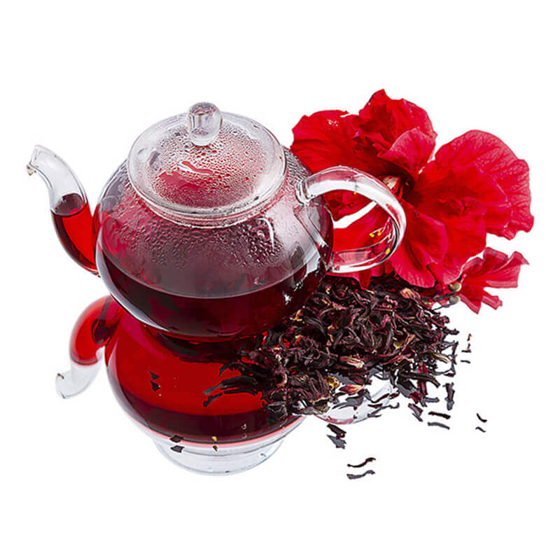 HIBISCUS TEA WITH CINNAMON AND GINGER